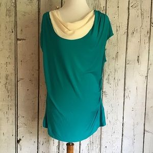 Soft Surroundings drape neck blouse